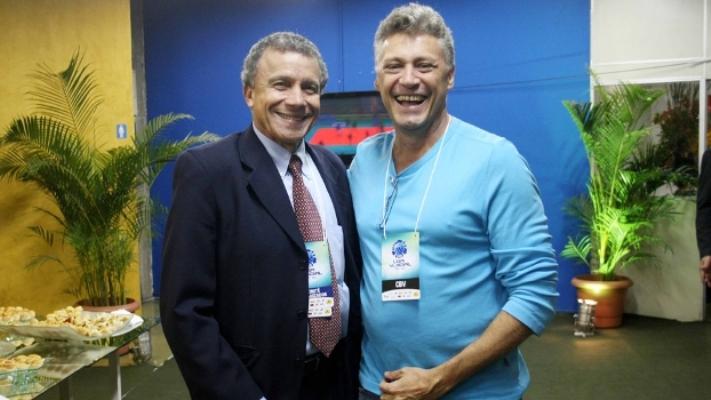 Marcos Pina (à esquerda) possui 99% dos direitos da SPM, empresa que recebeu os R$10 milhões da CBV