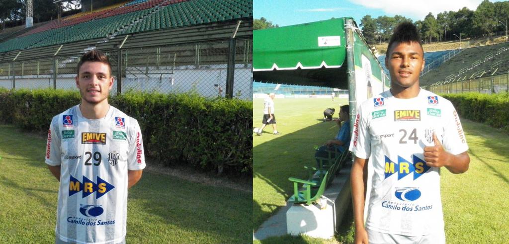 O atacante Sérgio Portugal (esquerda) e o lateral-esquerdo Lucas (direita) são as novidades do Tupi, vindos da base