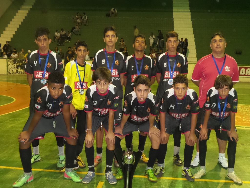 Sesi JF: vice-campeão infantil da Copa Prefeitura Bahamas de Futsal