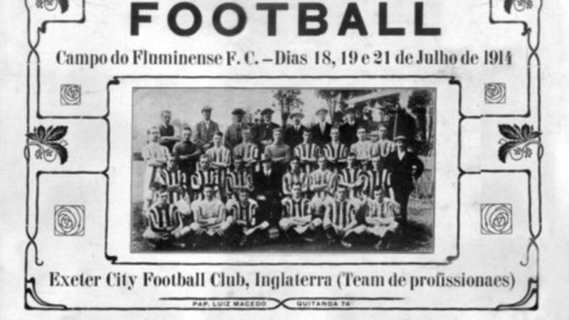 Jogadores do Exeter City presentes na partida de 1914