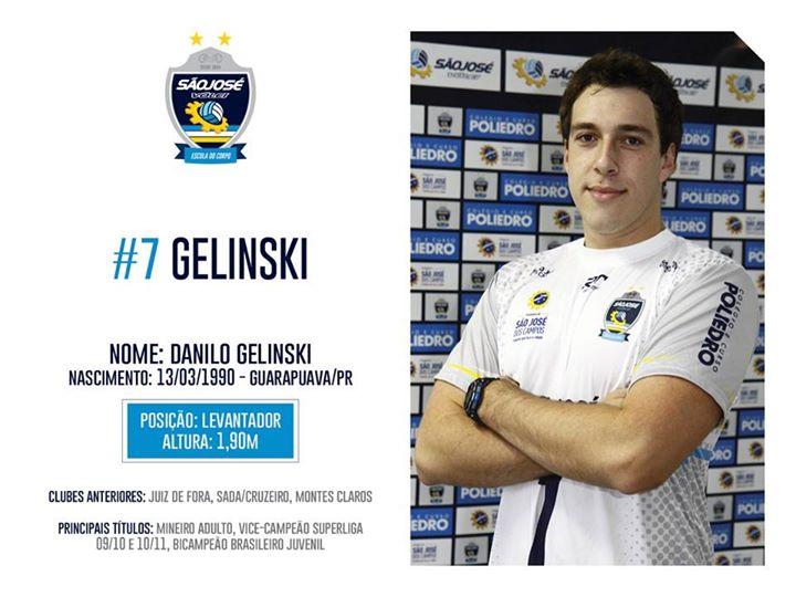 Ex-jogador da UFJF, Gelinski é uma das armas do São José para surpreender na Superliga 2014/2015