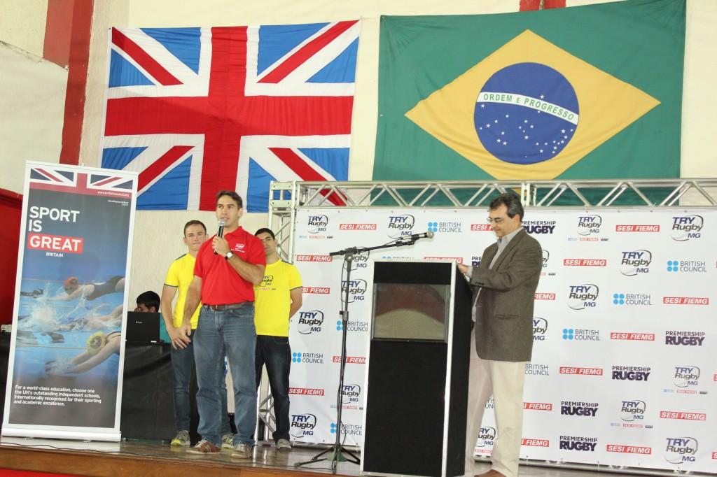 Gerente do Sistema de Lazer e Esporte do Fiemg, João Paulo Nogueira Resende (de vermelho), destacou a parceria entre os idealizadores do projeto