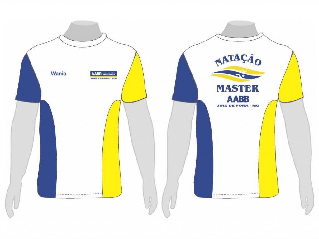 Nova camisa da Equipe AABB de Natação Master