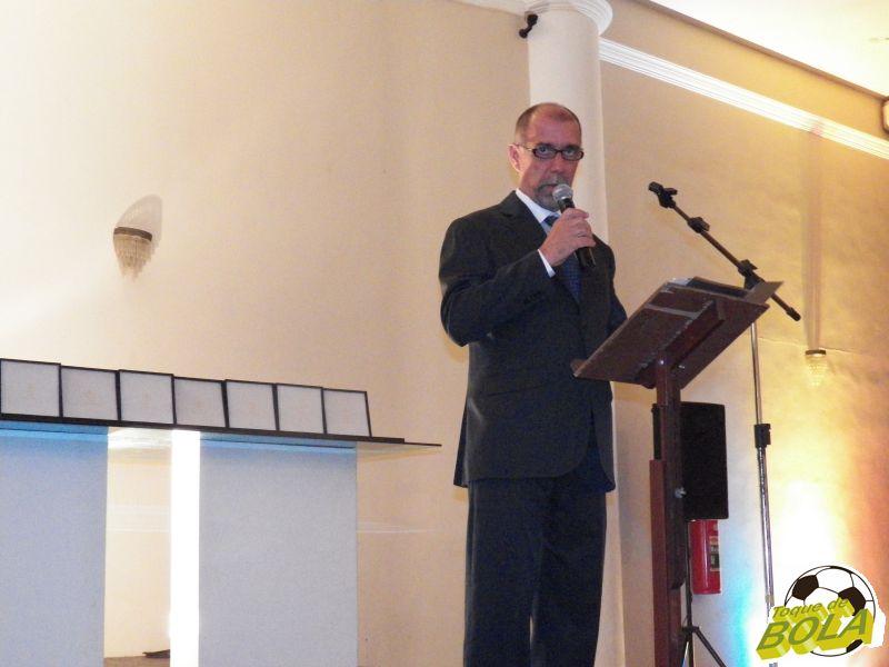 Presidente do Panathlon Club Juiz de Fora, Cláudio Luiz Esteves, discursou antes da entrega dos prêmios