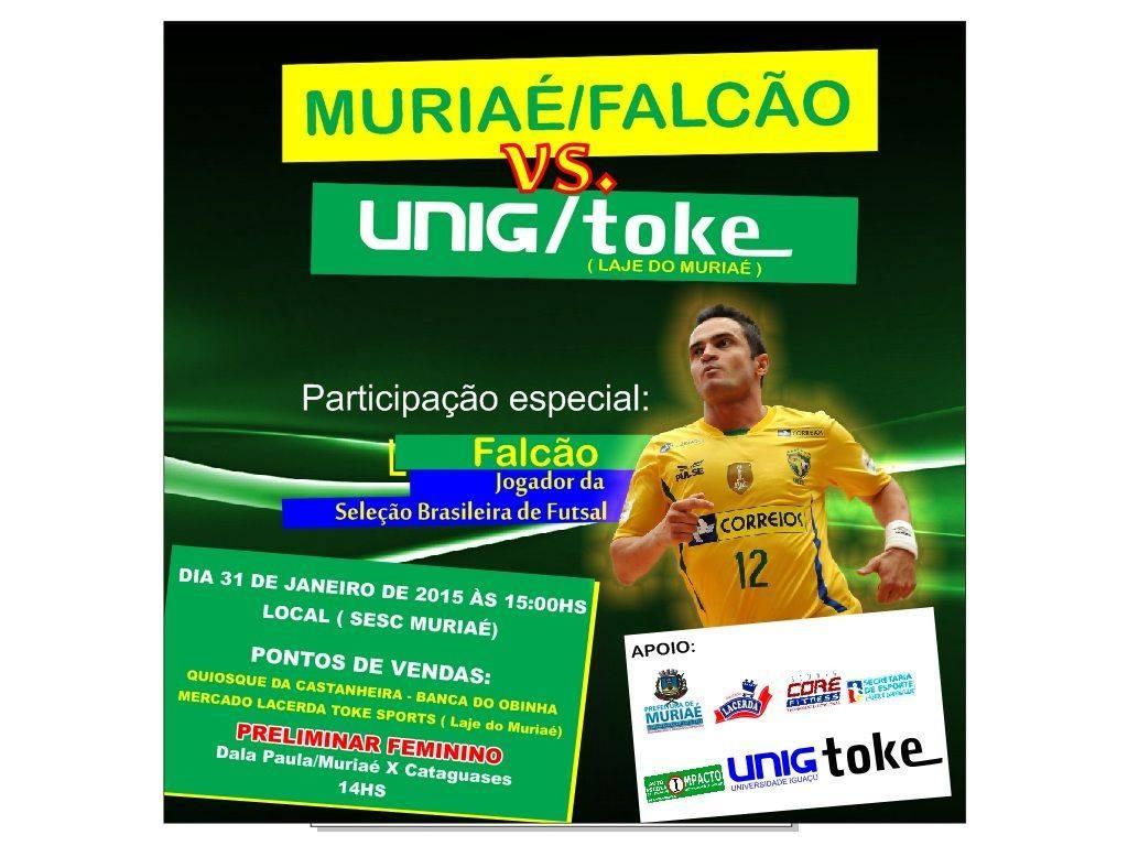 Maior astro do esporte, Falcão jogará amistoso em Muriaé.