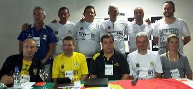 Integrantes da Associação Nacional de Árbitros de Futsal, entidade oficializada durante o Congresso