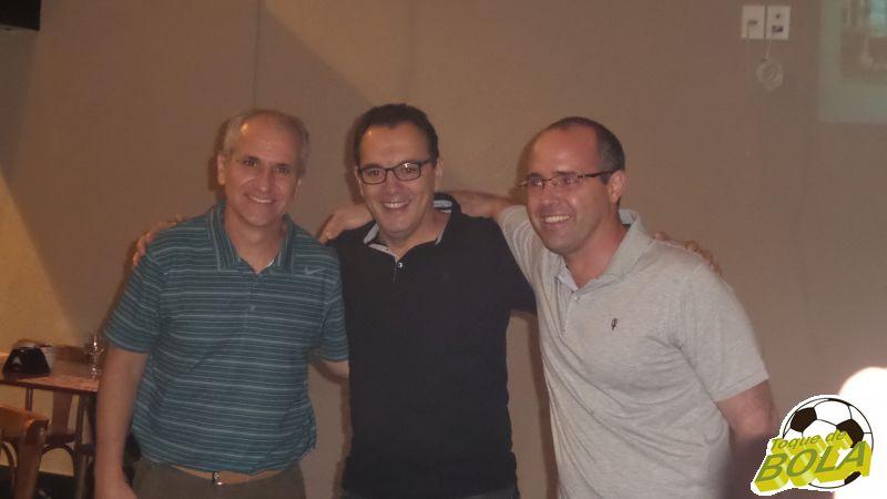 Gerson (GSport), entre Renato e Maurício: fornecedor do uniforme