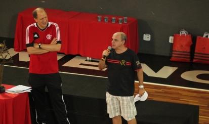 Vice-presidente Alexandre Póvoa e presidente do Flamengo,  Eduardo Bandeira de Mello (Foto: site oficial do Flamengo)