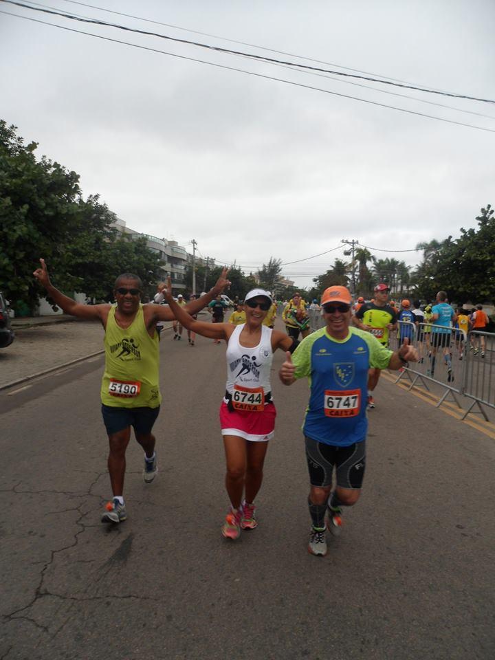 Célia, no centro, durante percurso no Rio: atleta sempre leva a corrida juiz-forana para etapas de fora do estado