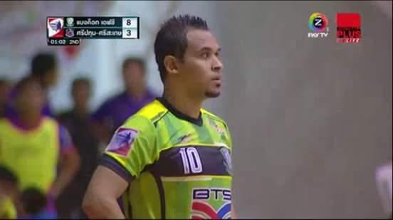 Pepe em jogo na Tailândia: jogador está há cinco anos no país asiático