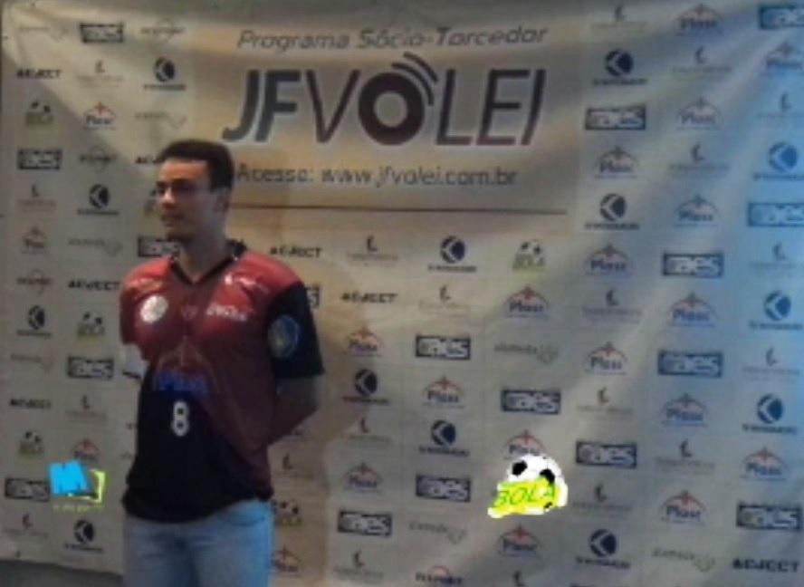 Líbero Fábio Paes fala da importância do  Sócio-Torcedor e do orgulho em representar a equipe do JF  Vôlei na divulgação do programa
