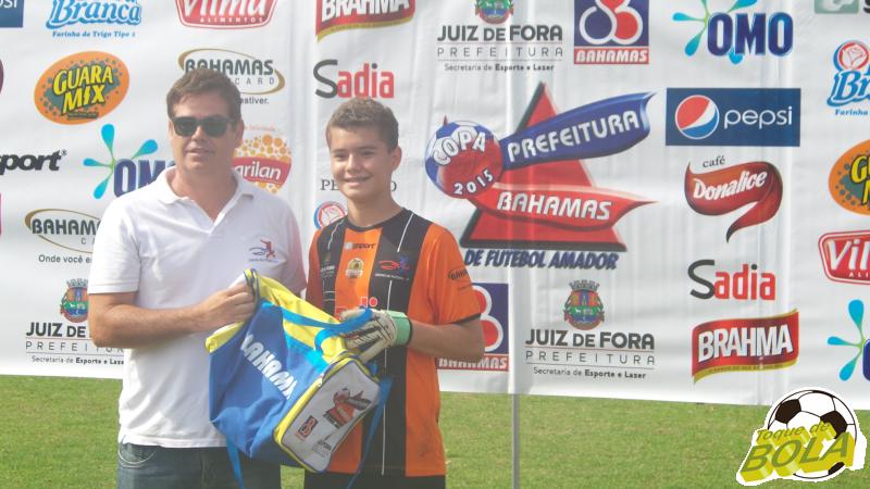 Gabriel Xavier foi o destaque da final pelo time do Centro de Futebol Zico