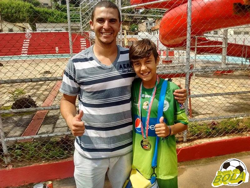 Lucas Vargas e Bernardo. Pai e filho campeões em 2015