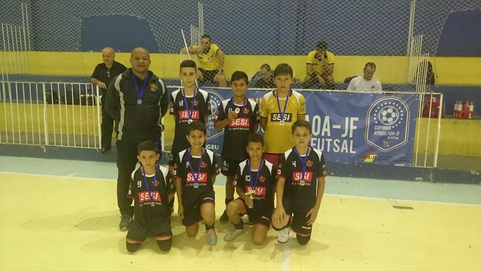SESI São João Nepomuceno, terceiro colocado no sub-11