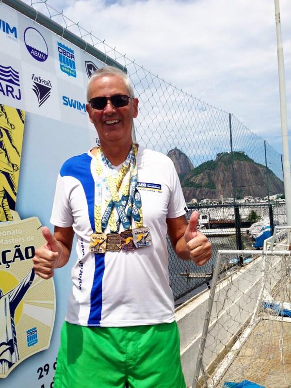 Ivo Bandeira, campeão brasileiro master de natação (Foto: Divulgação AABB Juiz de Fora)