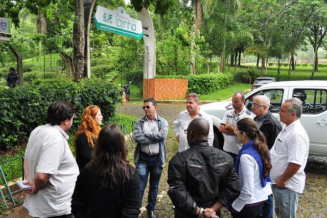 Parque da Lajinha foi o local escolhido para iniciar o percurso do revezamento da Tocha Olímpica (Foto: Divulgação)