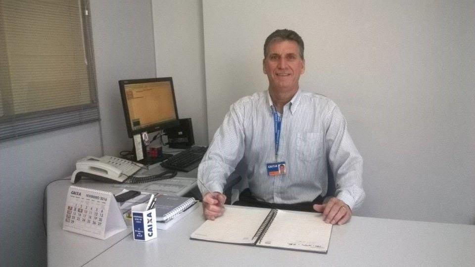 Ricardo Balbino, hoje, gerente da Caixa Ecônomica federal em Vila Velha-ES