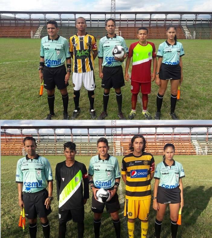 Capitães das duas equipes nas categorias sub-17 e sub-15 (Foto: Sérgio Eduardo)