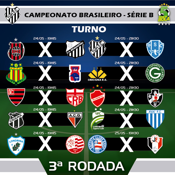 3A RODADA_TUPI CAMPEONATO BRASILEIRO SERIE B INSTAGRAM