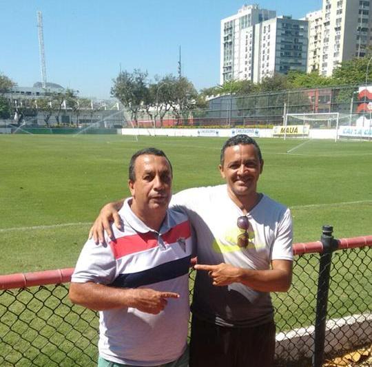Walmir e Claaudinho: o primeiro treinador e o pai de Guilherme, na Gávea