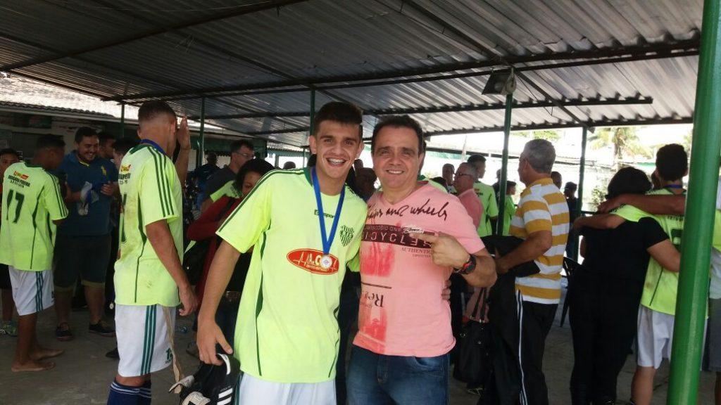Irineu Rezende e o filho Heitor: comemoração em família