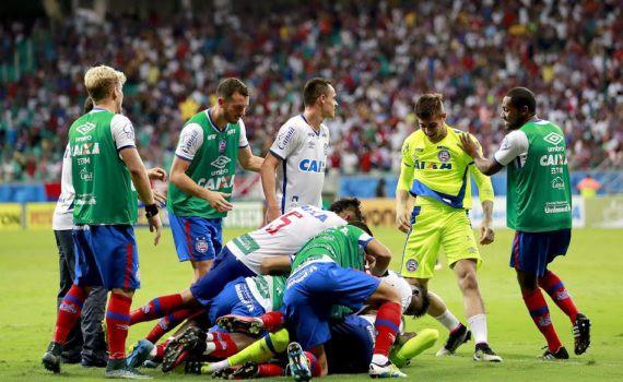 Bahia venceu com dois gols na etapa final