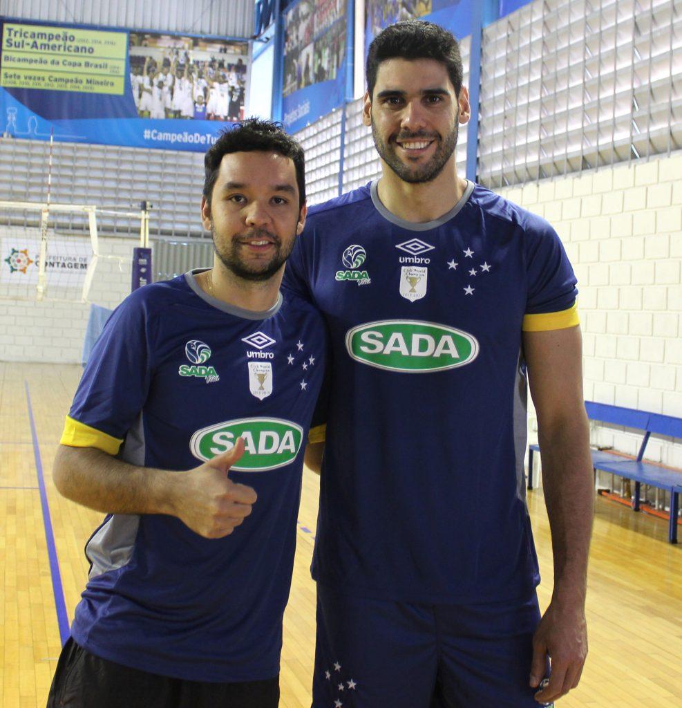 William e Evandro voltaram após as olimpíadas. (Foto: Andréia Santos / Divulgação Sada Cruzeiro)