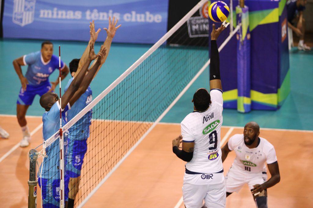 Sada bateu Minas e fechou primeira fase vencendo todos os jogos (Foto: Divulgação Sada Cruzeiro)