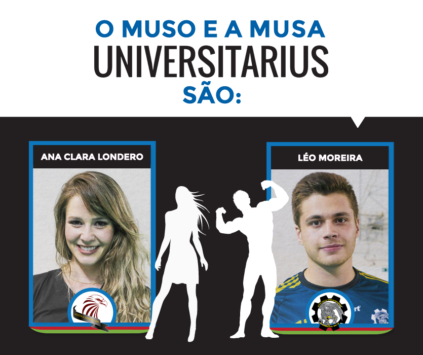 Ana Clara e Léo Moreira foram eleitos os 'mais belos' do Universitarius 2016