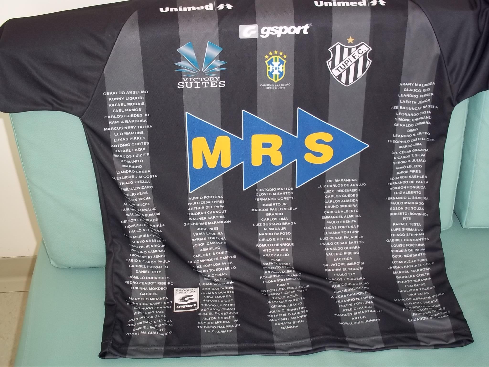 Read more about the article Tupi entra em campo com a camisa dos Guerreiros Carijós