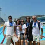 Mateus, Wania, Lúcia, Vera e Ivo no Mourisco Mar (Foto: Divulgação)