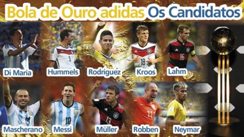 Com Neymar na lista, Fifa apresenta indicados a melhor jogador da Copa
