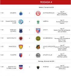 Jogos da quarta rodada na categoria sub-17