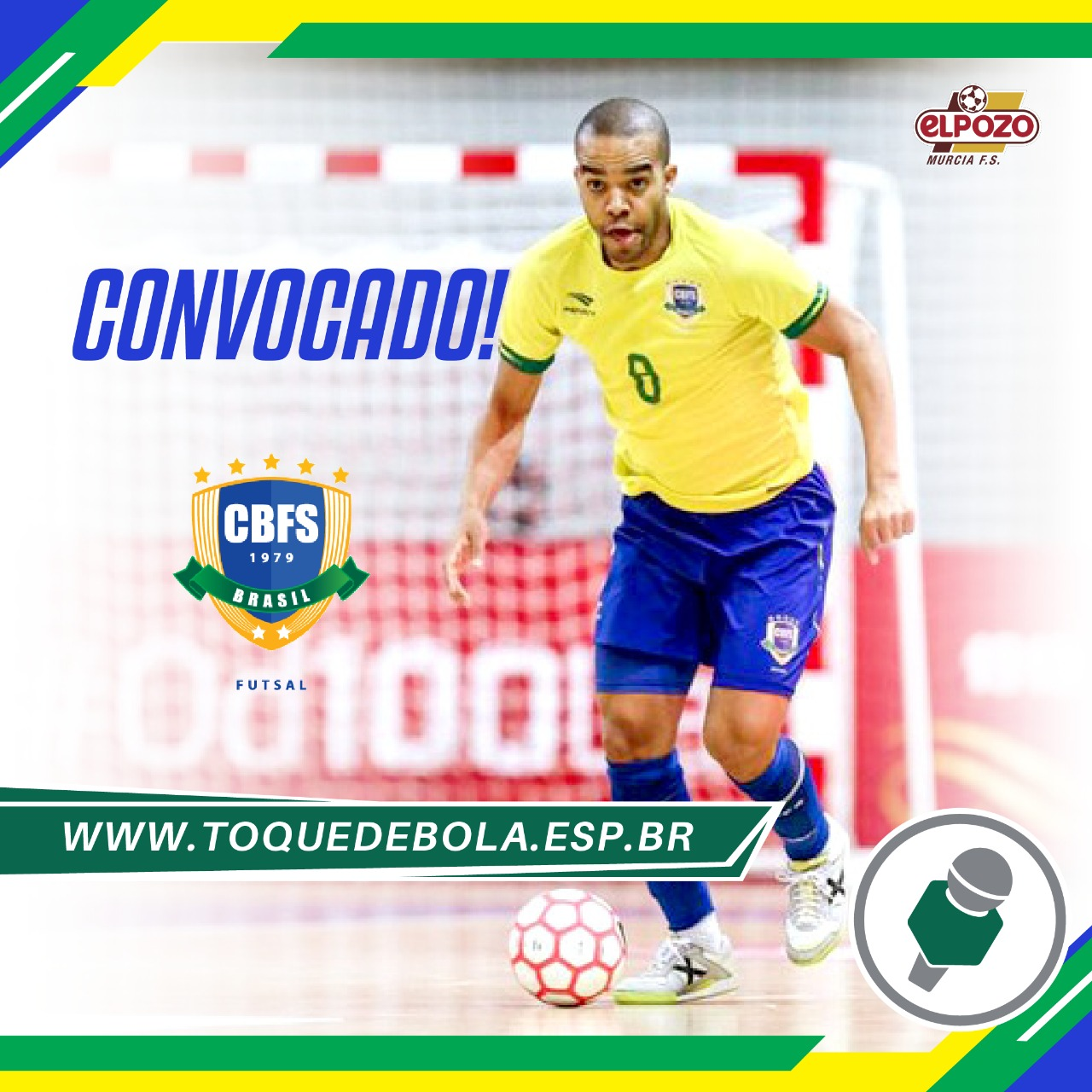 Léo Santana está de volta à Seleção Brasileira!