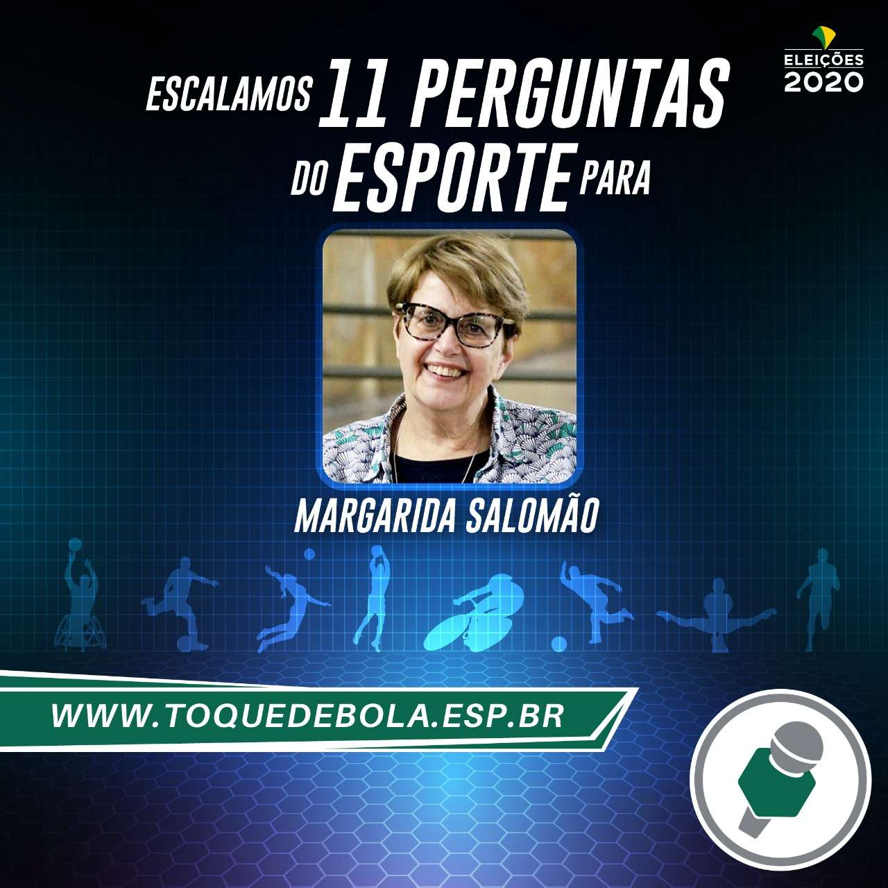 Read more about the article Entrevista: 11 perguntas de esporte do Toque de Bola para Margarida Salomão