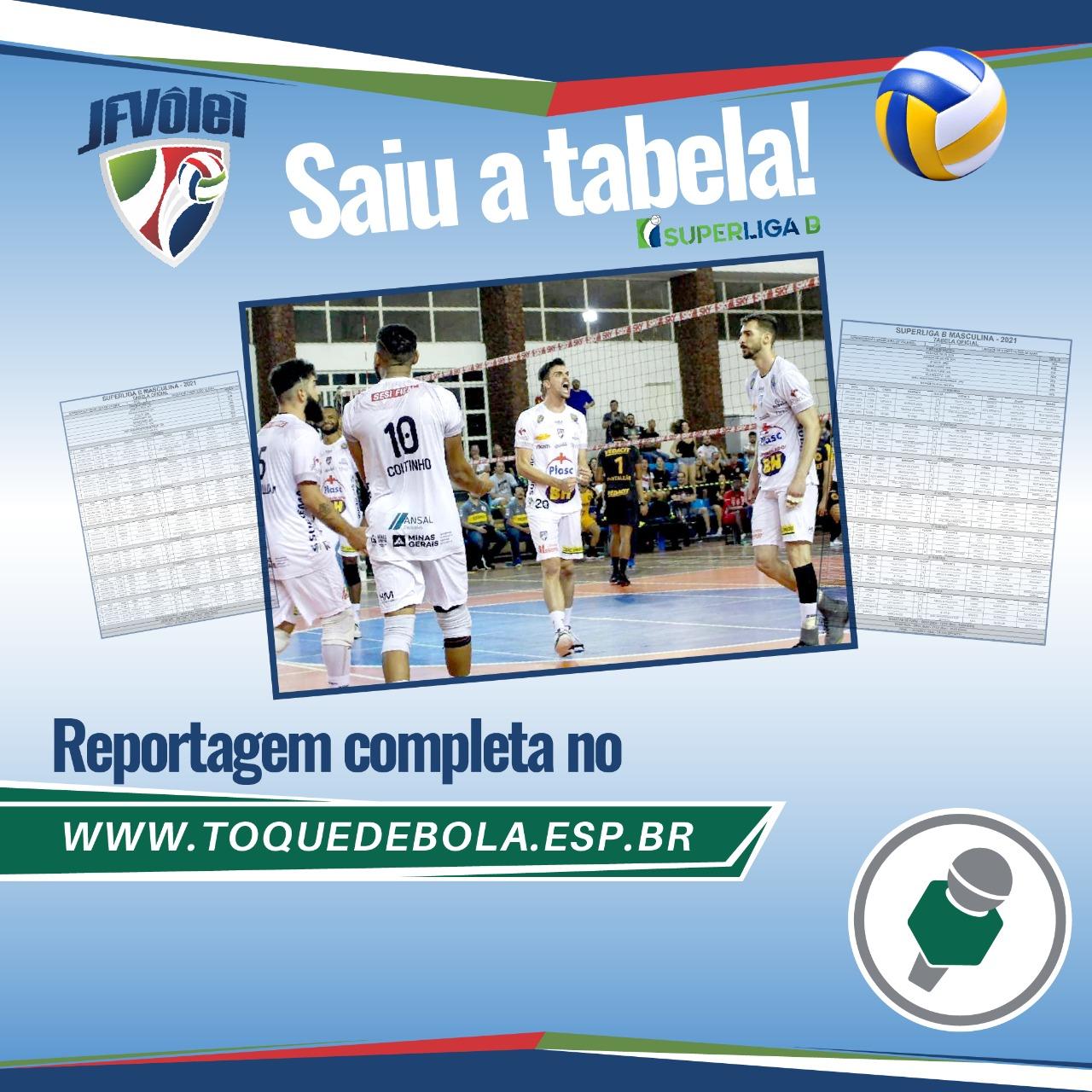 Read more about the article Superliga B 2021: JF Vôlei estreia dia 23 de fevereiro contra o Vila!