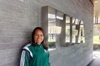 Janette Arcanjo foi à Copa do Mundo Feminina 2015 Foto: CBF/Divulgação