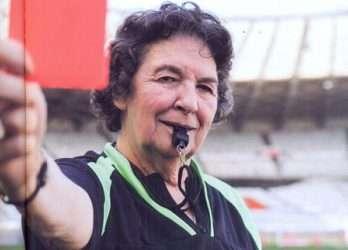 Lea Campos, em 2014, no Mineirão