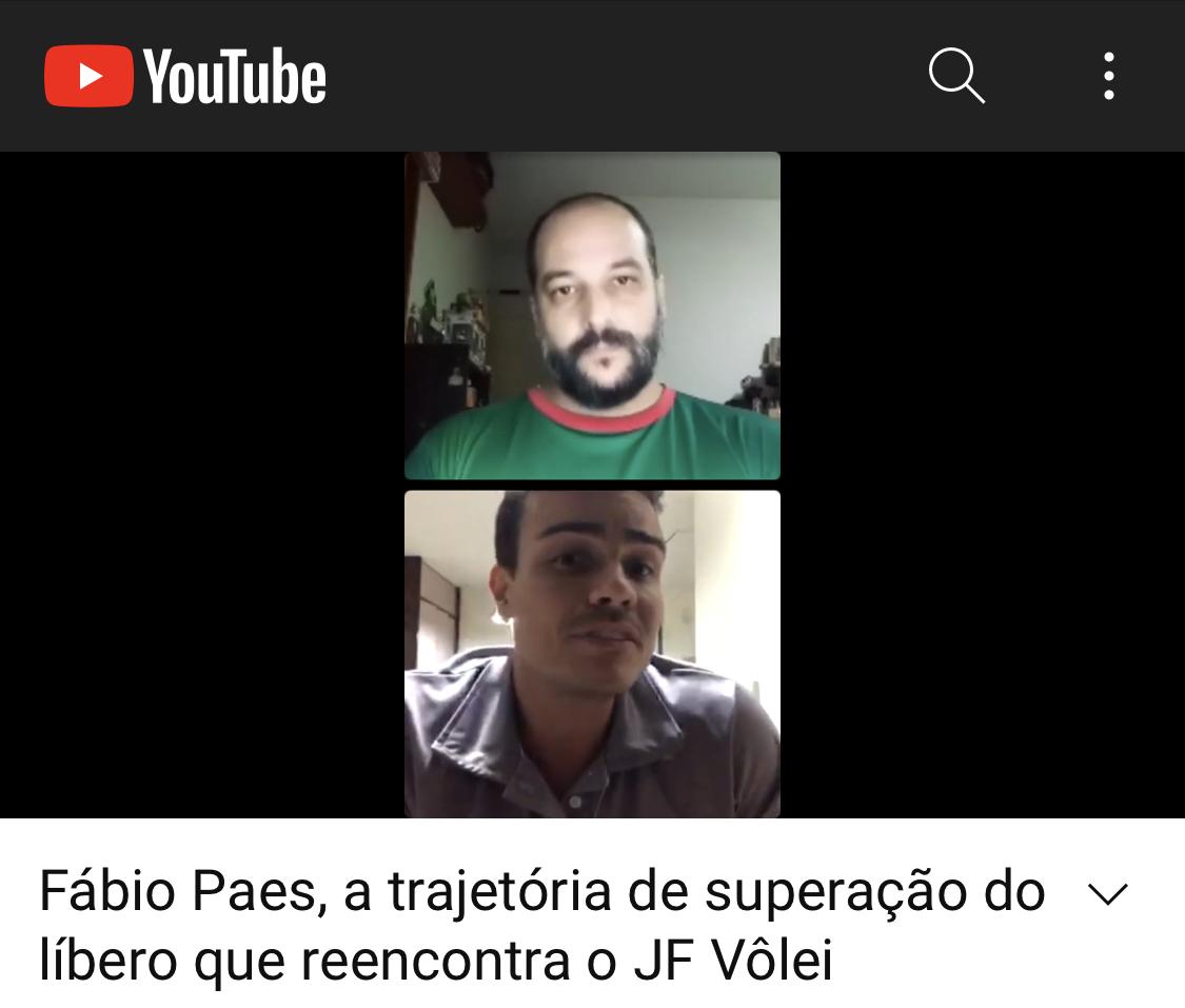 Confira a Live Especial com o líbero Fábio Paes: a trajetória de superação