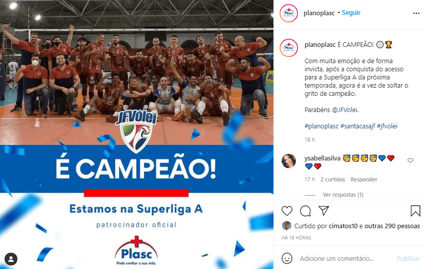 Read more about the article Veja as manifestações de parabéns ao JF Vôlei pela conquista da Superliga B