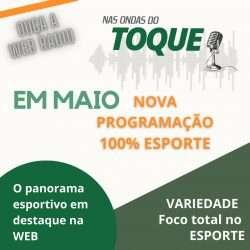 Sábado, estreia da webradio do Portal Toque de Bola!
