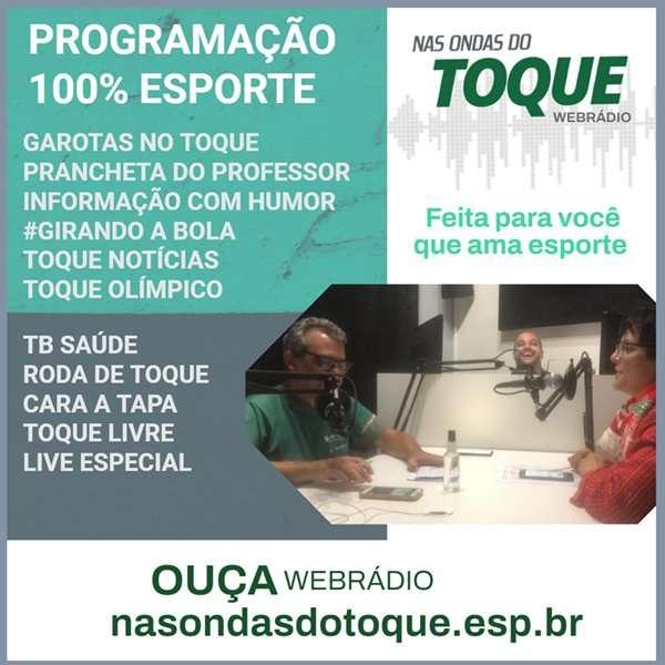 Read more about the article Entrevistas, Olimpíadas, humor: confira a webradio Nas Ondas do Toque neste domingo