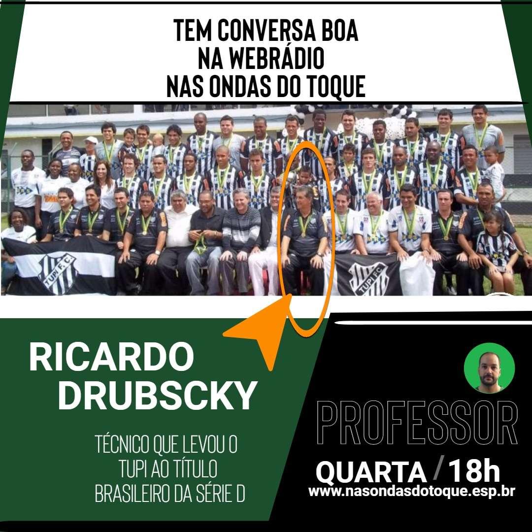 """""""Prancheta"""": professor Ricardo Drubscky é atração Nas Ondas do Toque"""