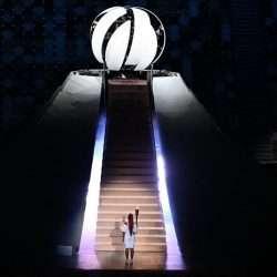 Nas asas do Tsuru olímpico., eu me imaginei andando de skate