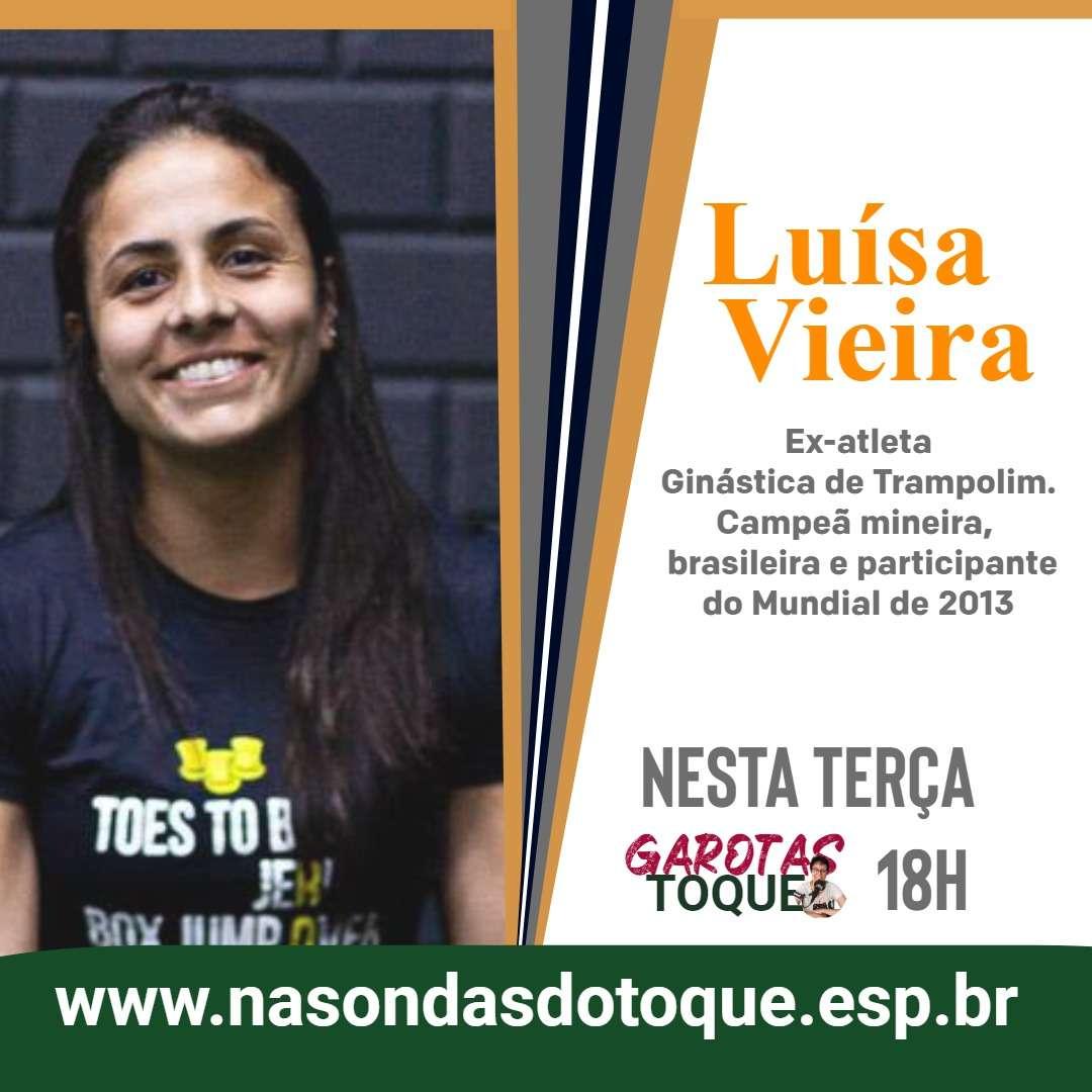 Read more about the article Garotas no Toque recebe Luisa Vieira, campeã brasileira de tumbling e professora de ginástica infantil