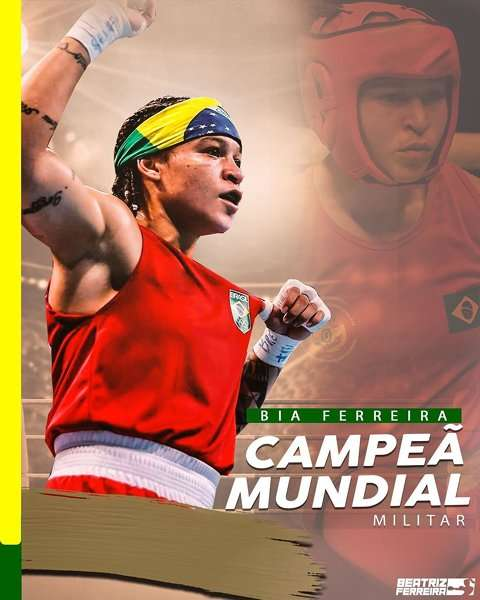 Read more about the article Mais um pra conta: Bia Ferreira é ouro no Campeonato Mundial Militar de Boxe