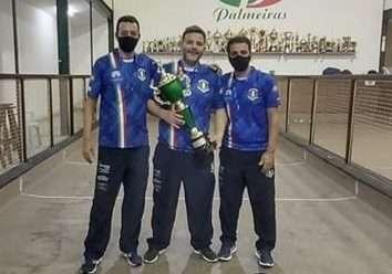 É prata! Atletas da Bocha Casa D'Italia JF são vice no Mineiro de Trios